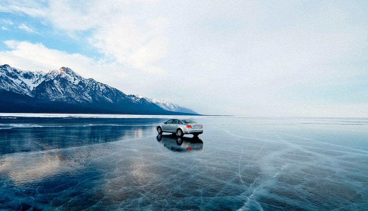 Красота — убивает. Главред «Большого» проехал по льду Байкала и переночевал на медвежьей шкуре