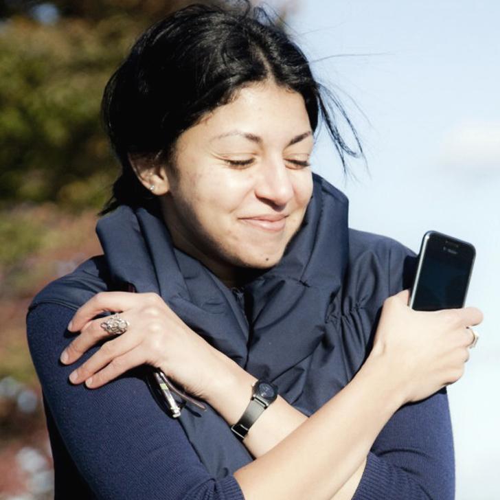 Like-A-Hug wearable social media vest, Cambridge, MA, America - 08 Oct 2012