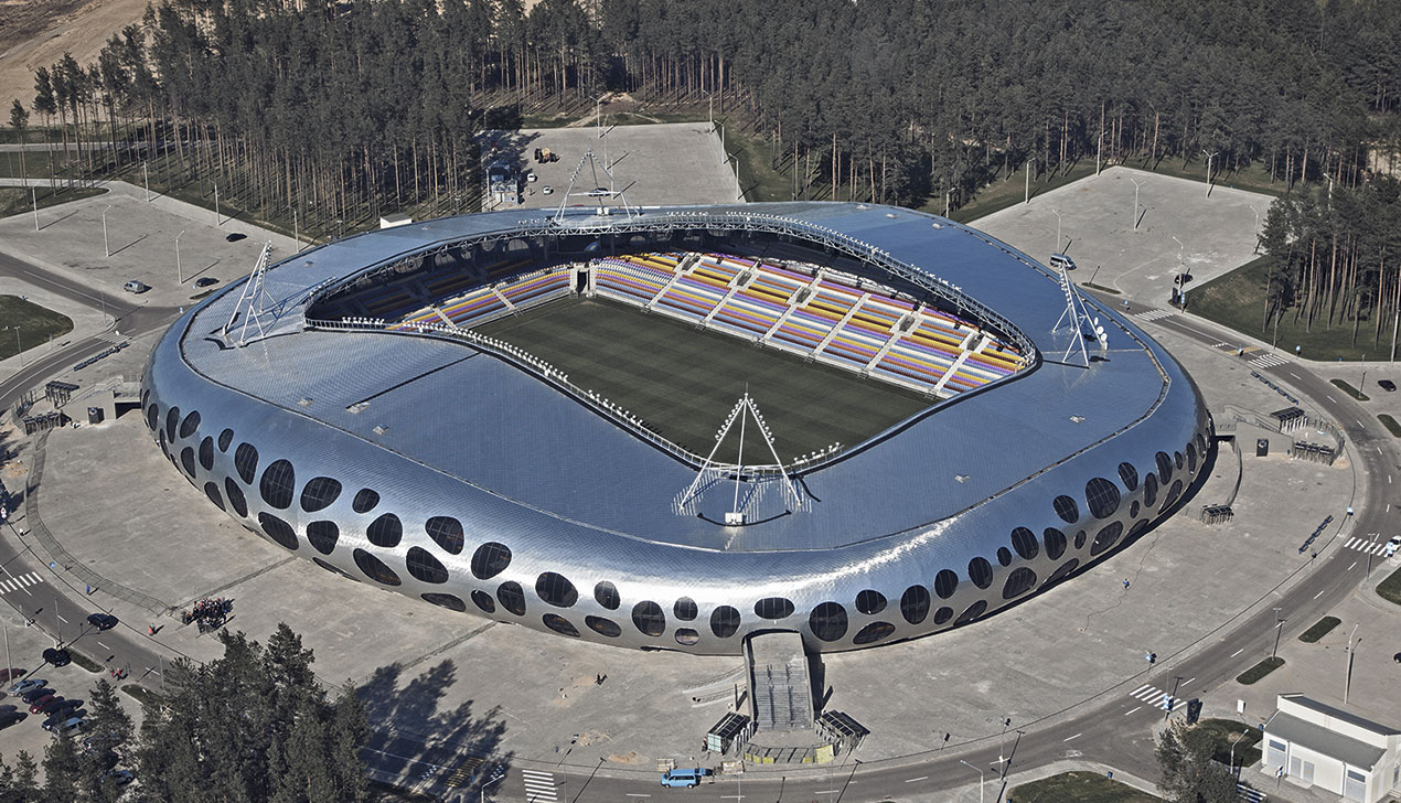 Логово дракона: что представляет собой самая стильная футбольная арена Беларуси