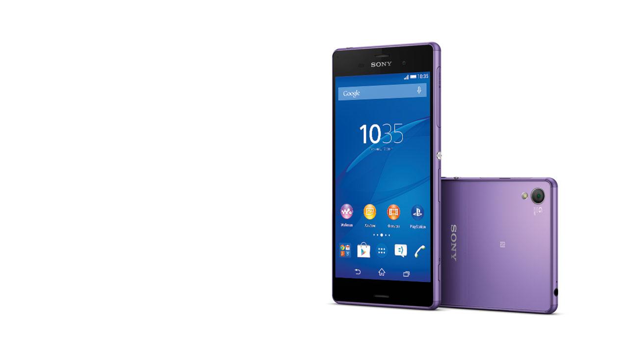 Флагманский смартфон Sony Xperia Z3: все фиолетово