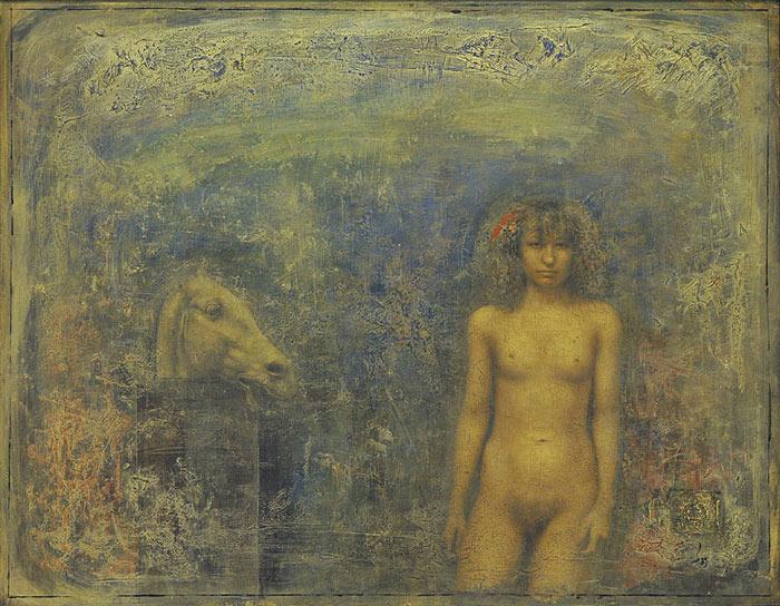 Дзяўчына ў садзе-1998