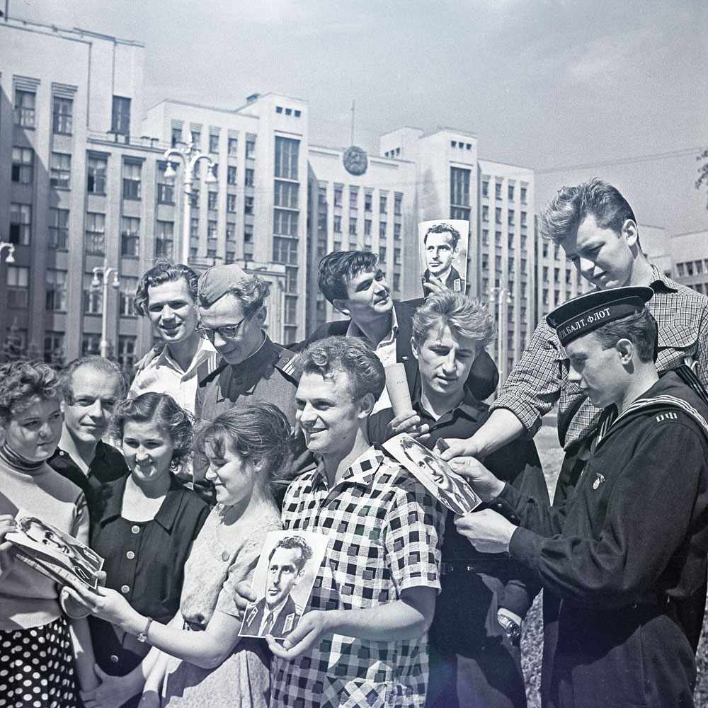 Как в 1961 минчане встречали Гагарина и Титова