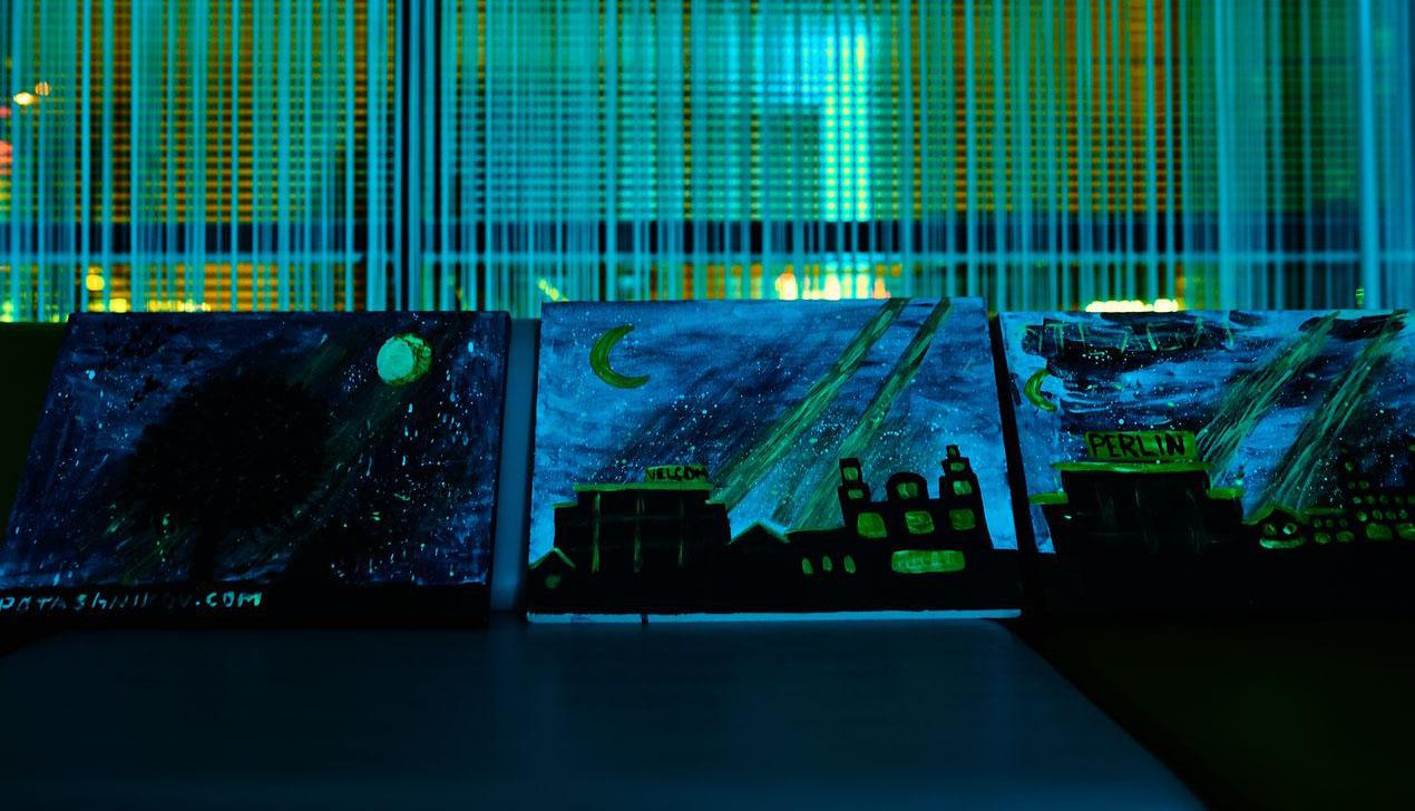 В Час Земли вместо электричества velcom «зажег» светящиеся в темноте картины