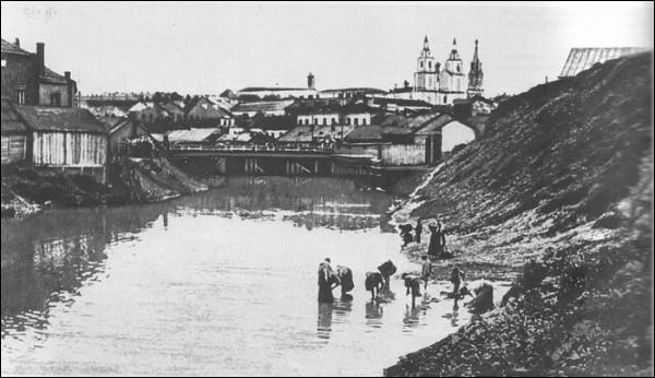 Река Свислочь и валы минского замчища (фото нач. ХХв.)