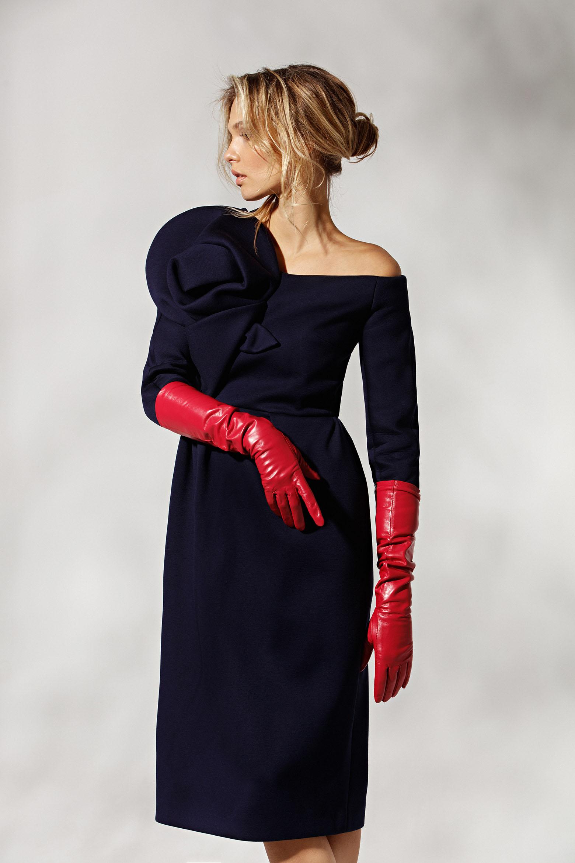 Платье Delpozo / Marcelino Перчатки Red Rose / Vandini