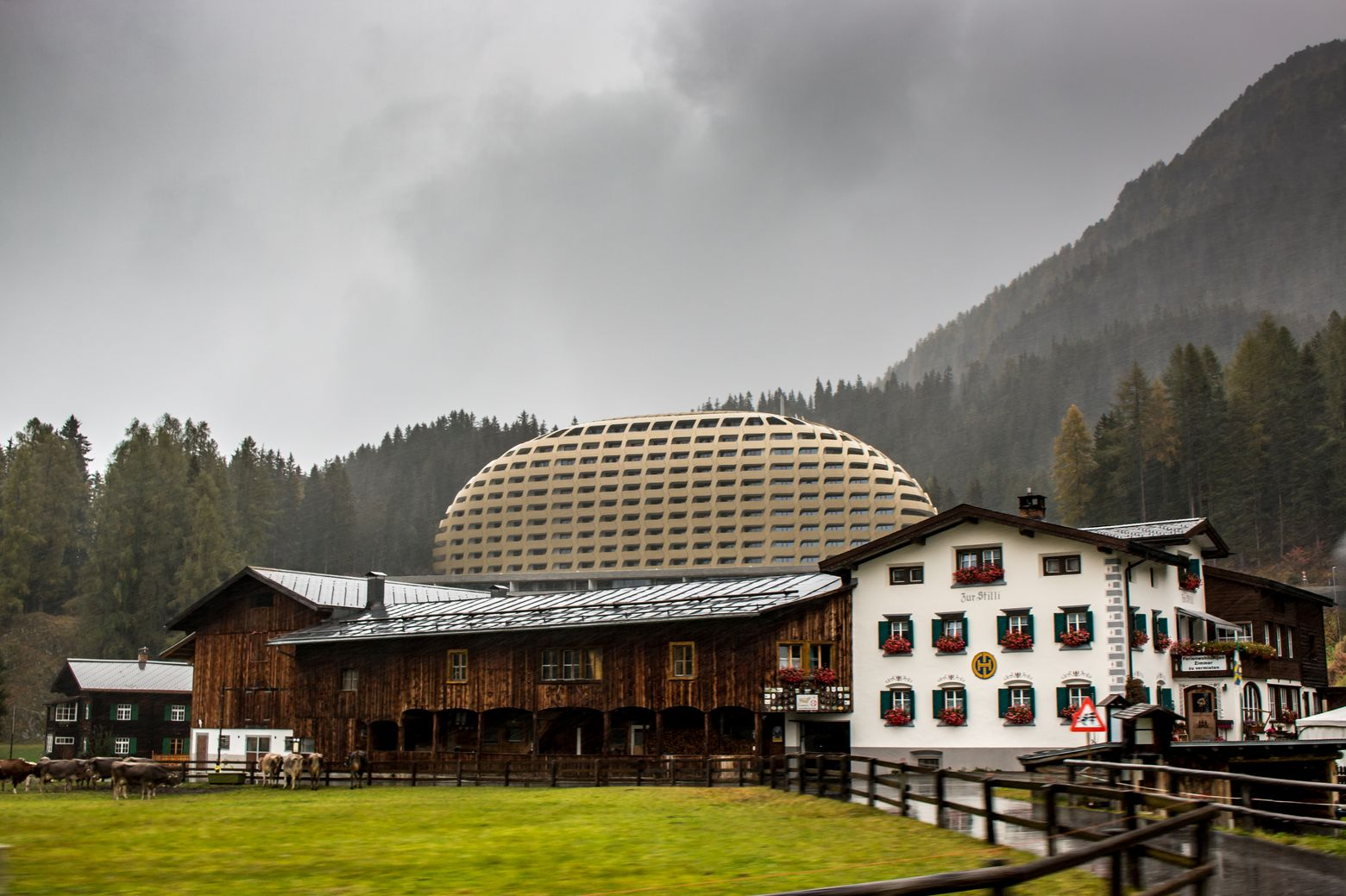 Бизнес в сельской местности Швейцарии