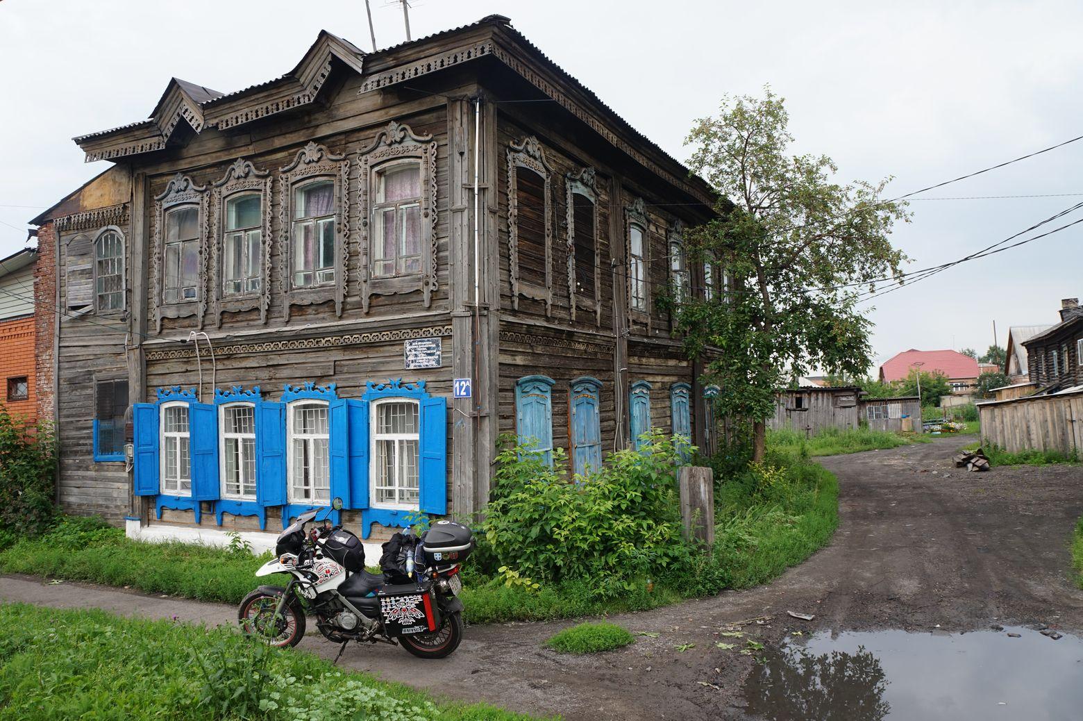 Мариинск. Катя катит.
