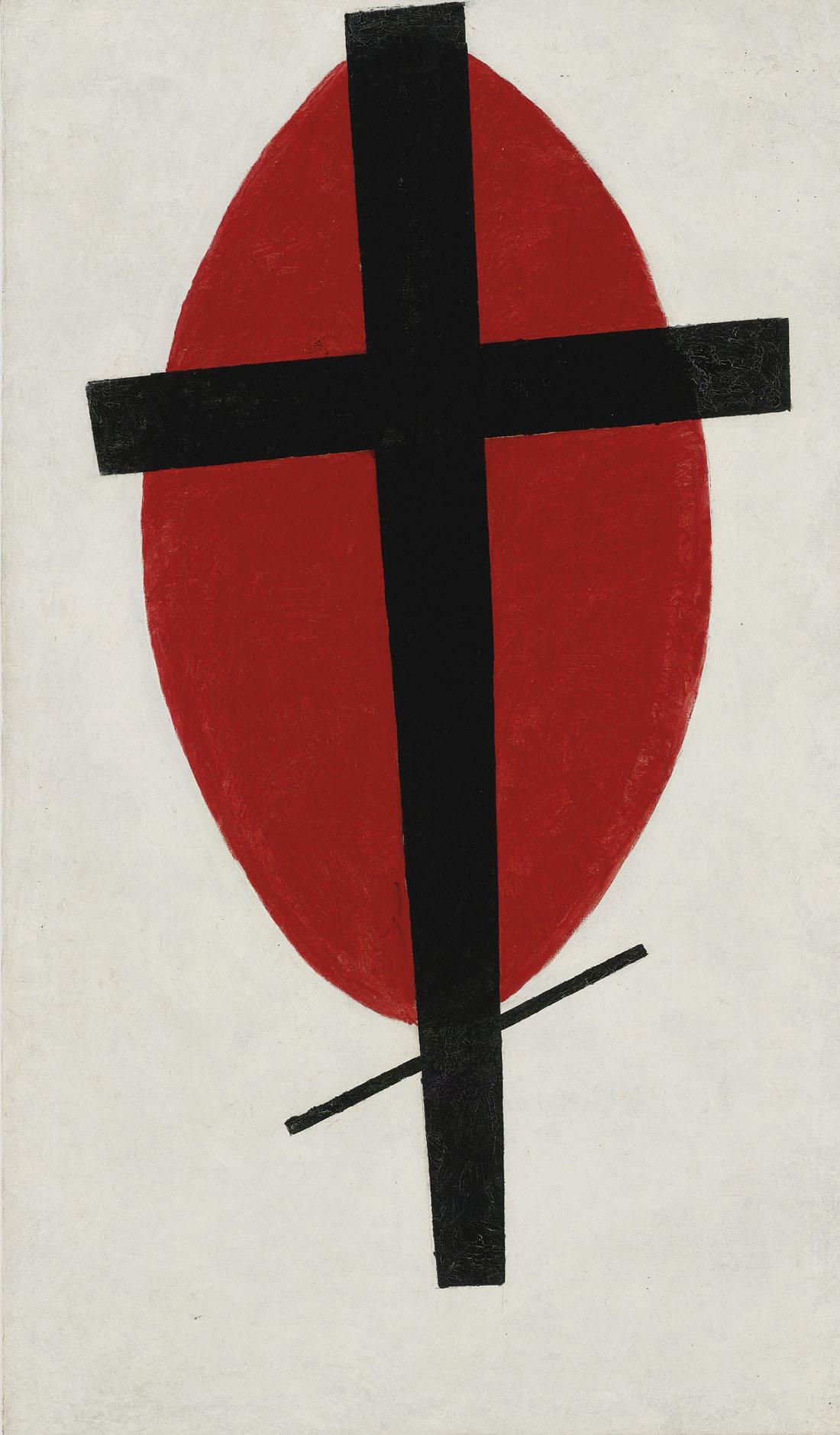 «Супрематизм» («Черный крест на красном овале»)
