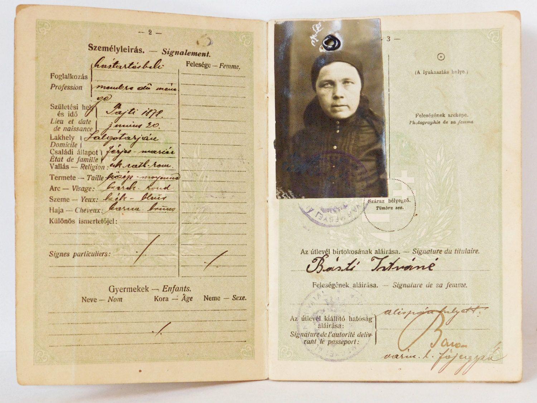 Венгерский паспорт, 1923 год