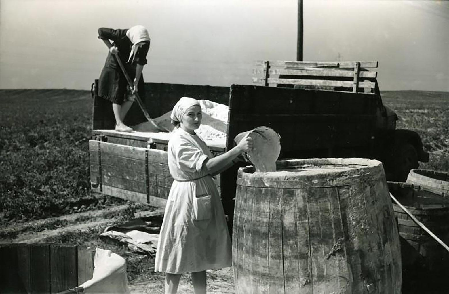 Подготовка удобрений в Лошице