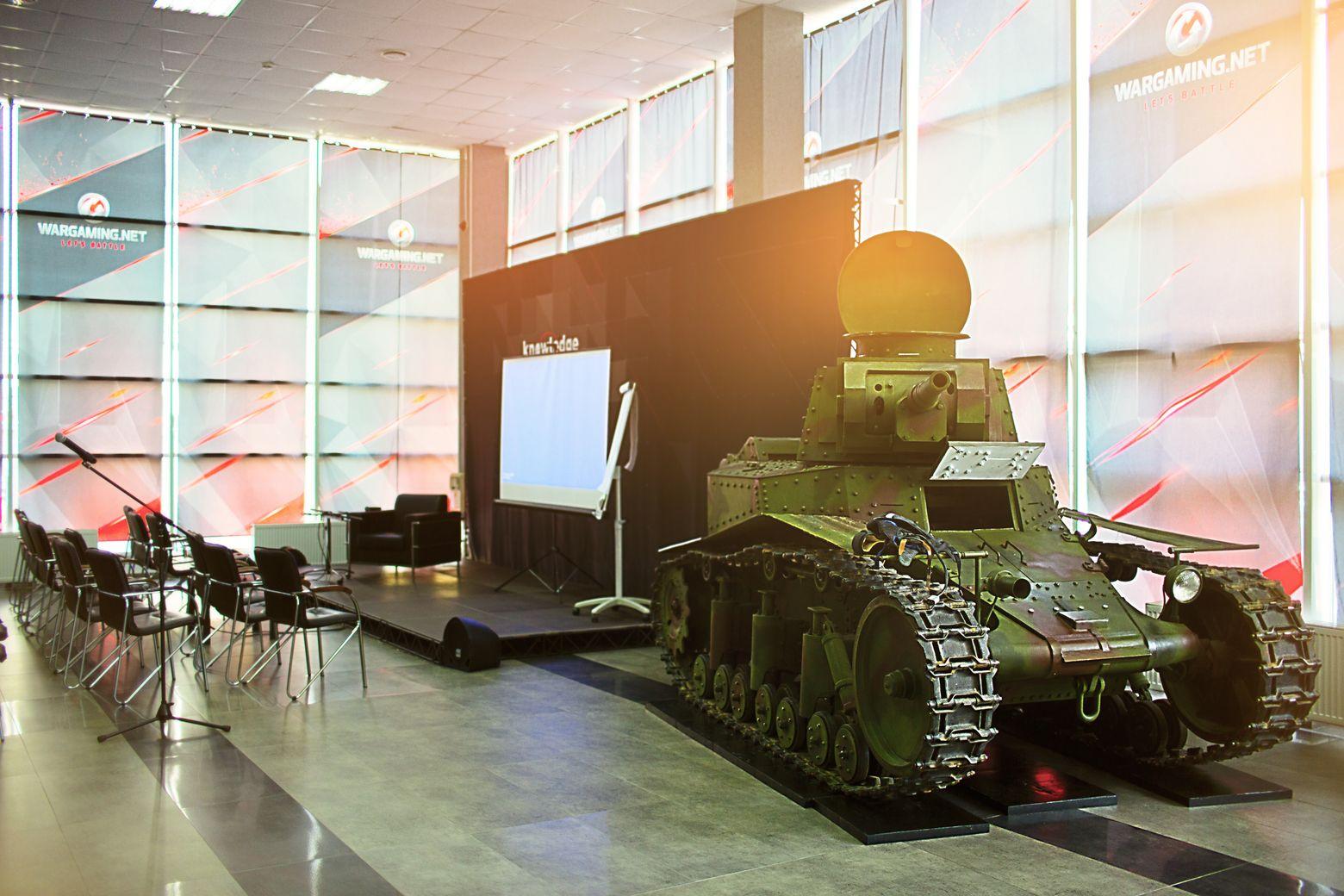Настоящий танк в офисе Wargaming