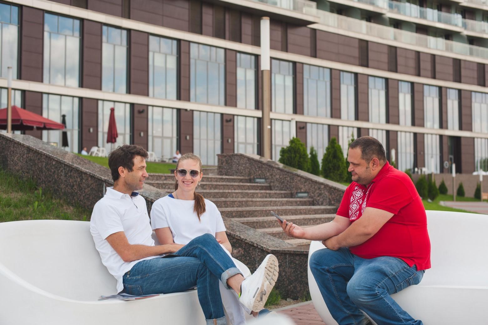 интервью с Дарьей Домрачевой и Уле-Эйнаром Бьорндаленом
