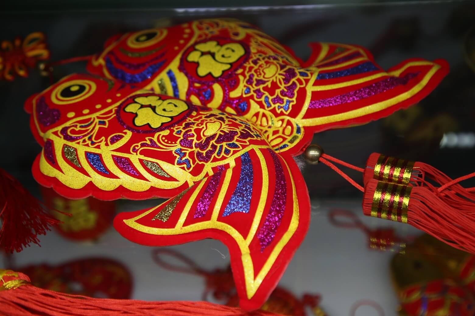 Китай: красная рыба