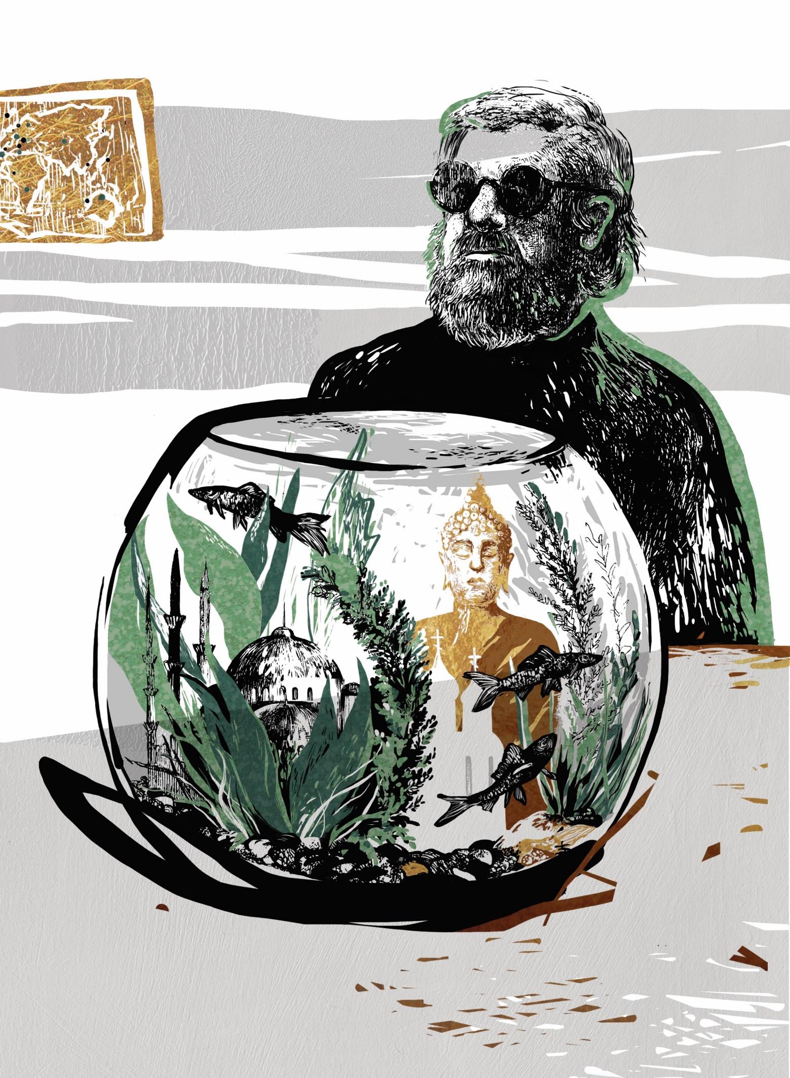 БГ, иллюстрация Катерины Клёц