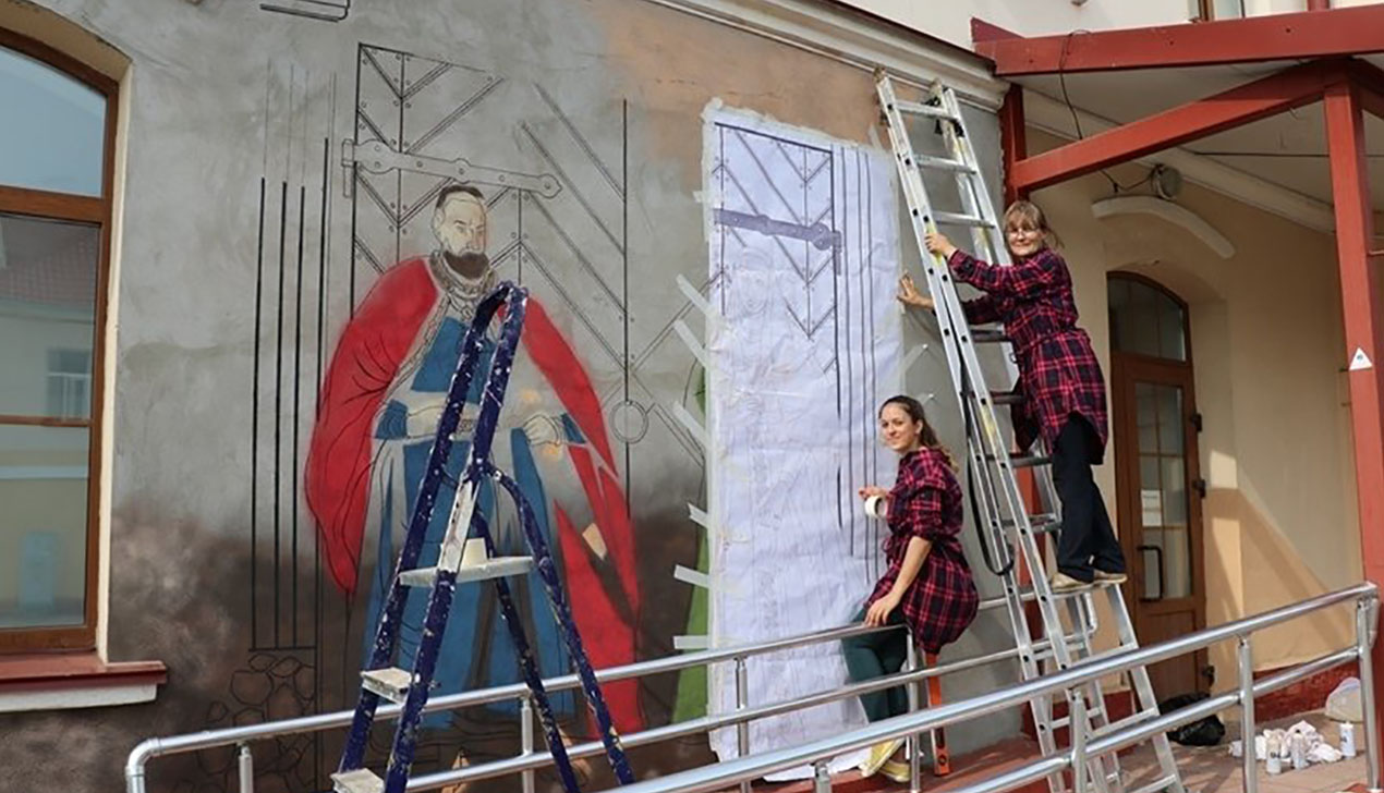 Граффити с Сапегой рисуют в Ошмянах