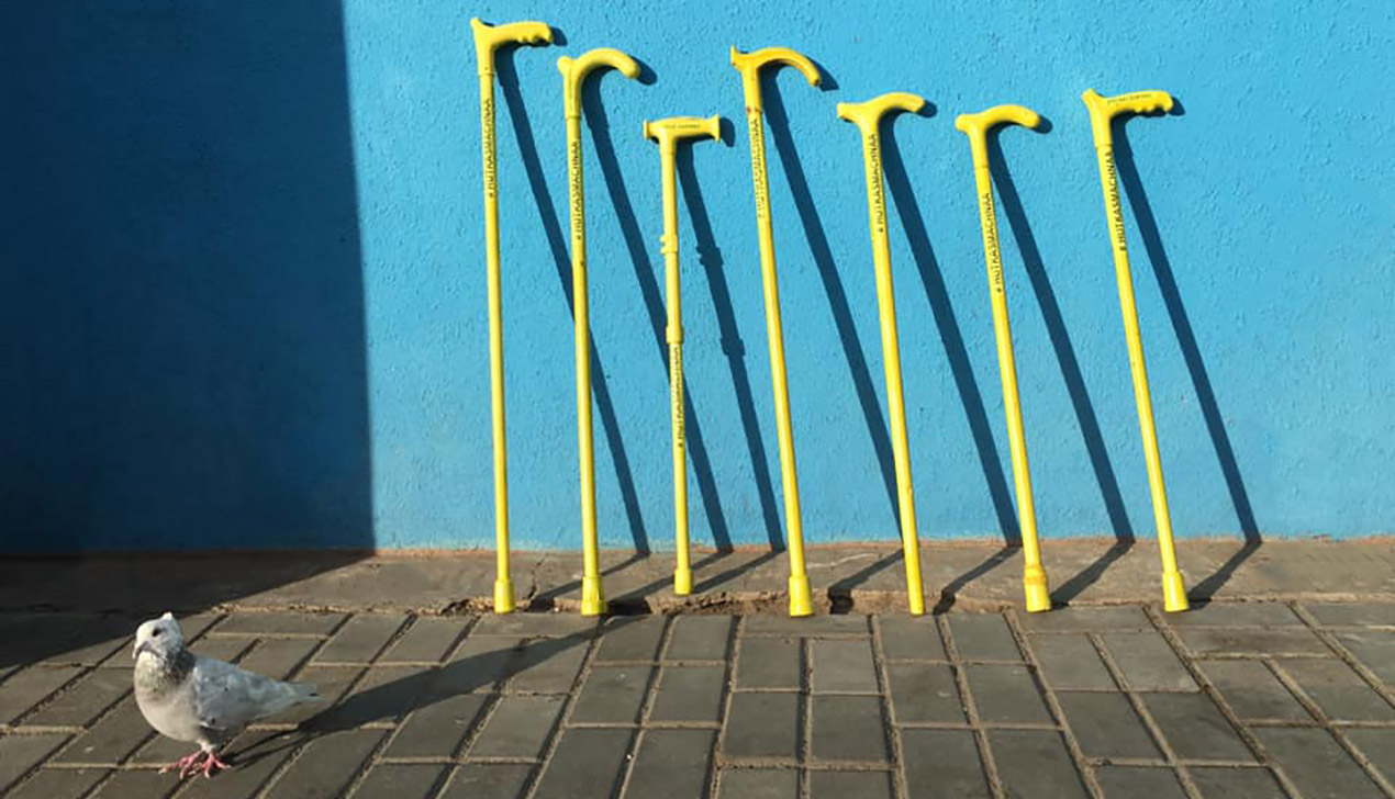В Минске появился бесплатный шеринг тростей