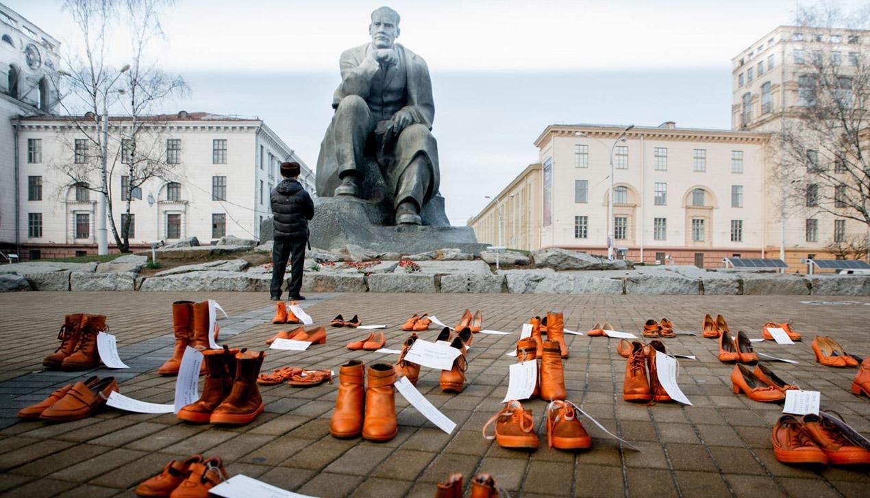 «Аранжавая» акцыя супраць хатняга гвалту прайшла ў Менску