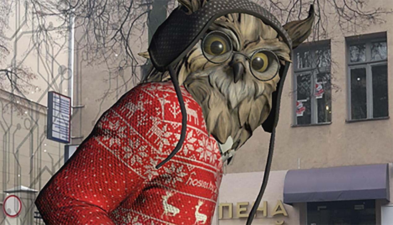 Айтишники поздравили минчан виртуальной новогодней открыткой