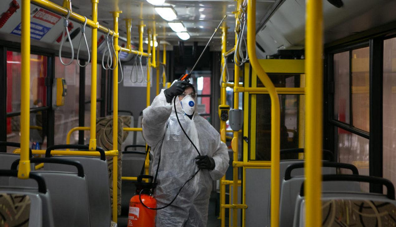 Салоны общественного транспорта в Минске начали обрабатывать дезинфицирующими средствами